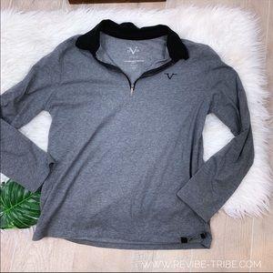V 1969 Quarter Zip Gray Pullover Sweatshirt 2357